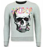 Enos Trui doodskop sweater