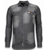 Bread & Buttons Denim shirt spijker slim fit