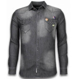 Bread & Buttons Denim shirt spijker slim fit
