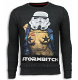 Local Fanatic Stormbitch rhinestone sweater