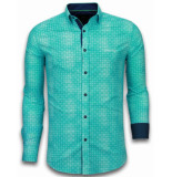 Tony Backer E overhemden slim fit turquoise