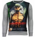 Local Fanatic Popeye revenge digital rhinestone sweater