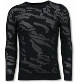 Justing 3d camouflage patroon trui neon pullover