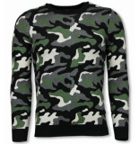 Justing Military trui camouflage pullover