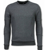BN8 BLACK NUMBER 3d ribbel square crewneck sweater