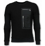 Justing Ribbel arm met kevlar pocket sweater