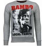 Local Fanatic Rambo rhinestone sweater