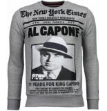 Local Fanatic Al capone rhinestone sweater