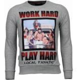 Local Fanatic Bilzarian rhinestone sweater