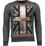 Local Fanatic Mike tyson rhinestone sweater