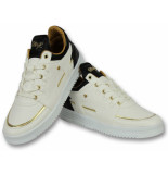 Cash Money Sneakers hoog schoenen luxury white black