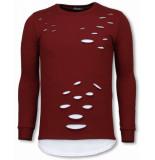 Tony Backer Longfit sweater damaged look shirt