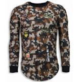 Justing 23th us army camouflage shirt long fit sweater