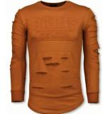 Justing 3d stamp paris trui damaged sweater
