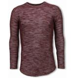 © MAN Gemeleerde shirt long fit sweater