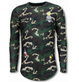 Justing King of army shirt long fit sweater