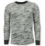 Tony Backer Army look shirt long fit sweater