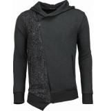 Enos Casual vest long slant zipper