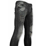 Justing Skinny jeans met patches 059