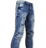 True Rise Broeken met scheuren biker jeans skinny