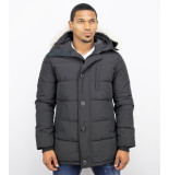 Just Key Winterjas parka met bontkraag
