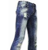 Justing Jeans slim fit damaged zipper design