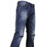 True Rise Basic jeans damaged knee regular fit