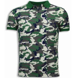 BN8 BLACK NUMBER Camo polo shirt neon camouflage polo shirt