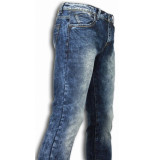 True Rise Jeans slim fit washed look jeans
