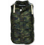 Yole Bodywarmer camouflage vest capuchon