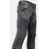 Justing Biker jeans slim fit denim ribbed knee