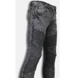 Justing Biker jeans slim fit denim ribbed knee