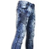 Justing Biker jeans slim fit denim urban look ribbel thigh