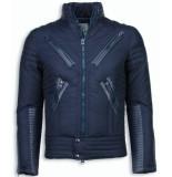 Next Style Gewatteerde winterjas motor jack blauw