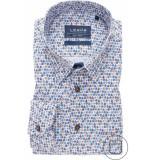 Ledûb Ledûb heren overhemd sea-inspired poplin button-down modern fit