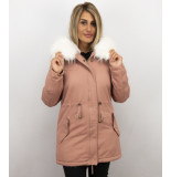 Z-design Lange winterjas met grote bontkraag