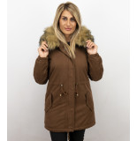 Z-design Lange winterjas met bontkraag