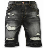 Enos Korte broeken slim fit ripped shorts