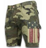 Bread & Buttons Korte broeken slim fit camouflage shorts
