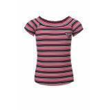 Looxs Revolution Gestreepte rib jersey top voor meisjes in de kleur