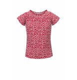 Looxs Revolution Rode top met smock voor meisjes in de kleur