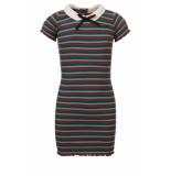 Looxs Revolution Rib jersey jurkje gestreept voor meisjes in de kleur