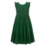 Looxs Revolution Lange groene zomerjurk voor meisjes in de kleur
