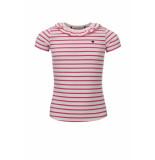 Looxs Revolution Off/white/pink gestreept t-shirt voor meisjes in de kleur