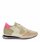 Philippe Model Sneakers tropez mondial glitter creme wit