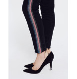 Mother Jeans looker ankle fray glitter