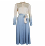 Forte_Forte Jurk my dress blauw