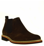 Conhpol Chelsea boots suede bruin