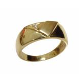Christian 14 karaat cachet ring met diamant