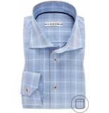 Ledûb Heren overhemd licht geruit twill modern fit